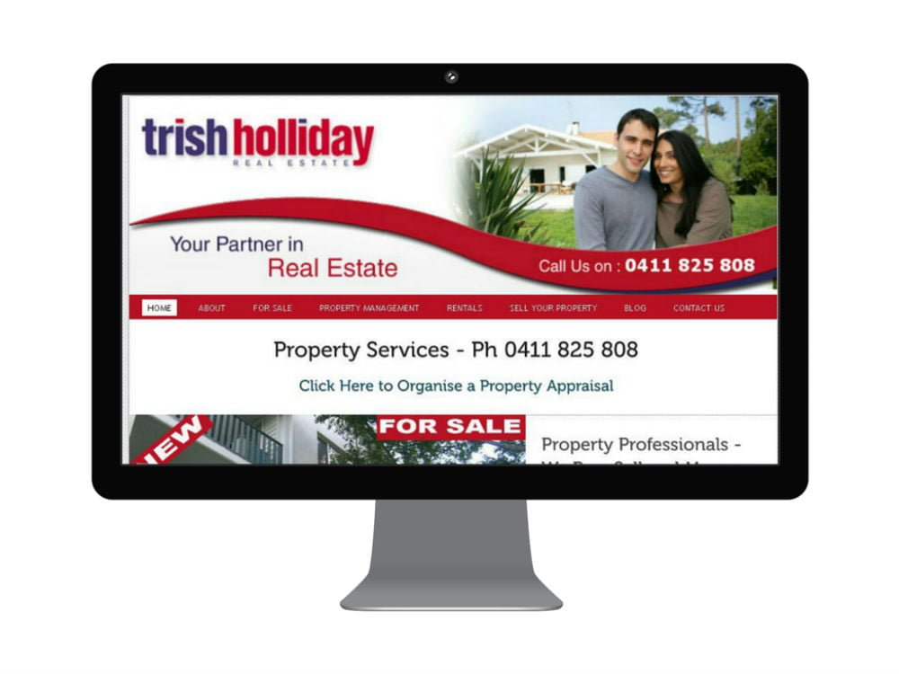 Trish Holliday Real Estate Website