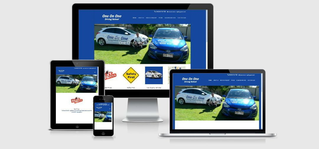 New Business Website for One On One Driving School