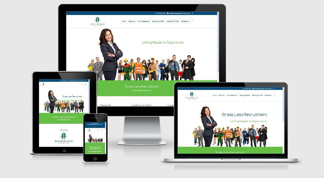 Stress Less Recruitment New Business Website