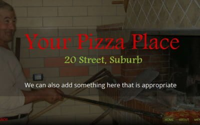Pizza Website Demo – $300 setup – limited time only