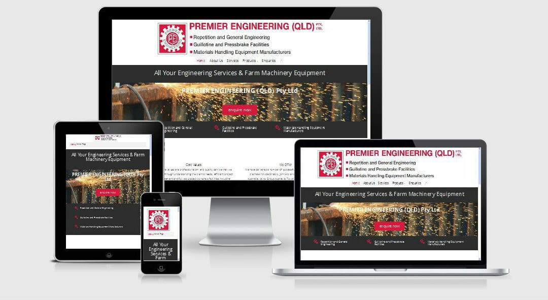 Premier Engineering (Qld) New Website