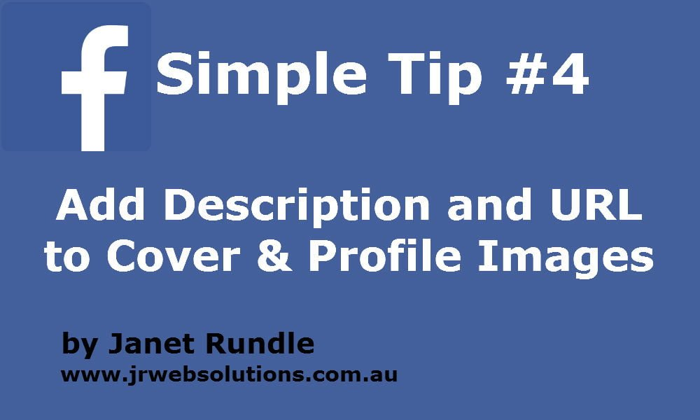 Add Description and url to Facebook Profile and Cover Images