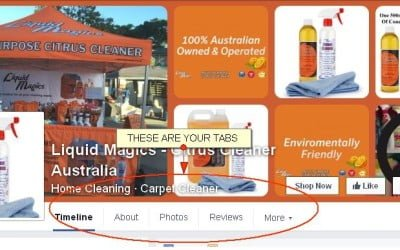 Rearrange Your Business Facebook Page Tabs