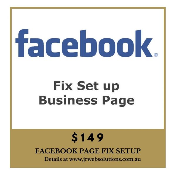 Fix Facebook Business Page
