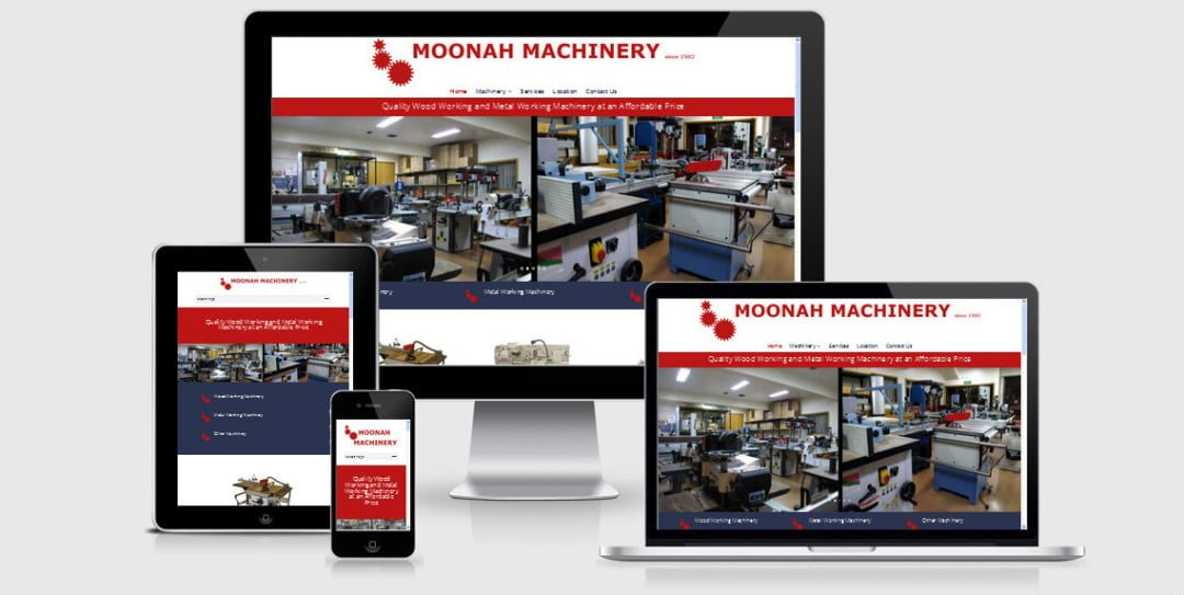 Moonah Machinery Upgraded Website