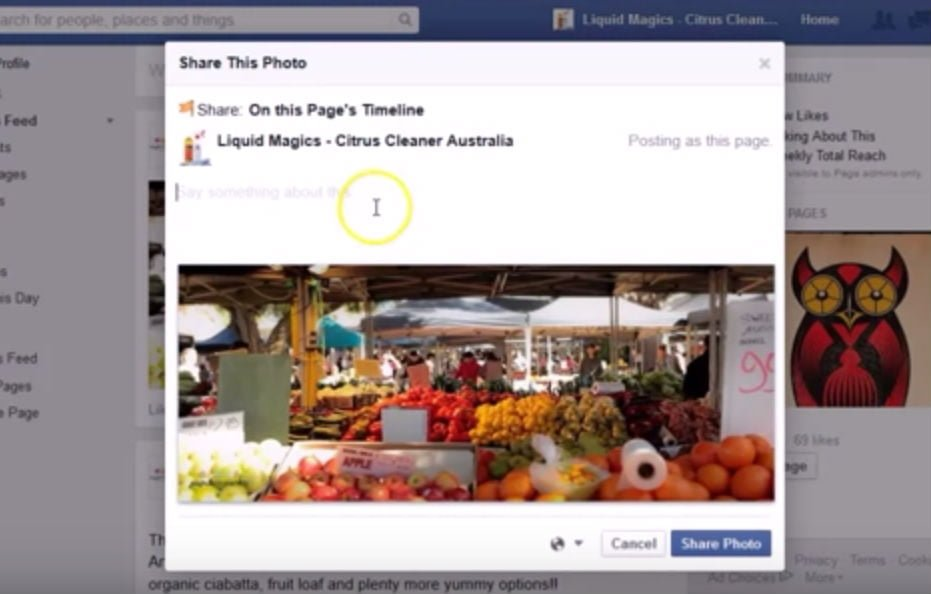 Share other Facebook Page Posts