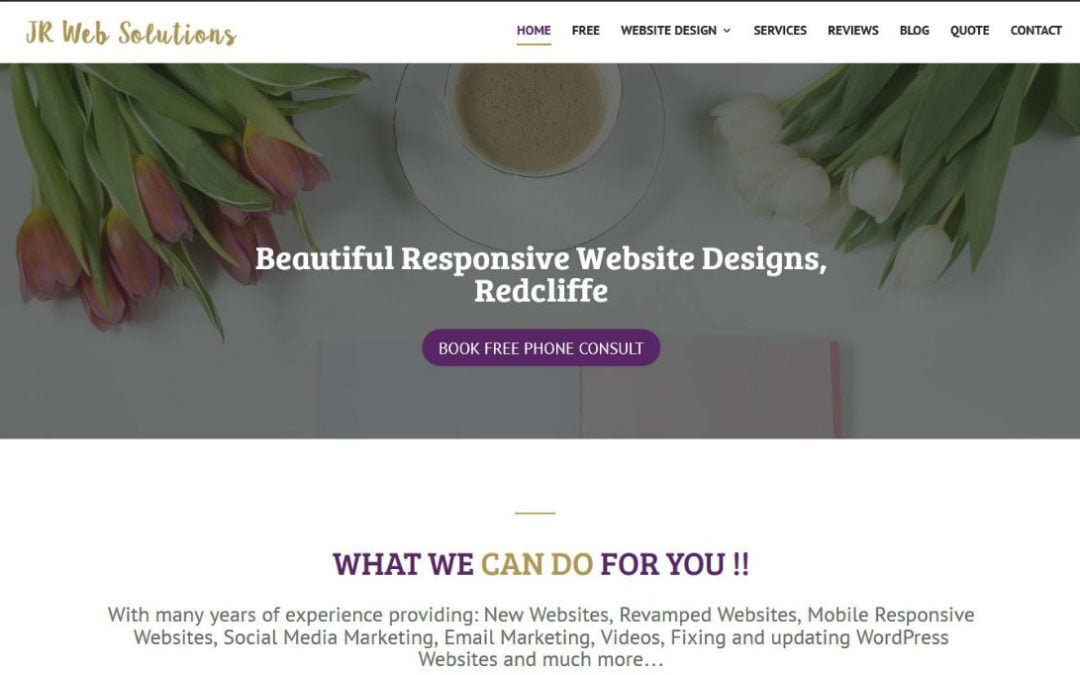 JR Web Solutions Website Facelift