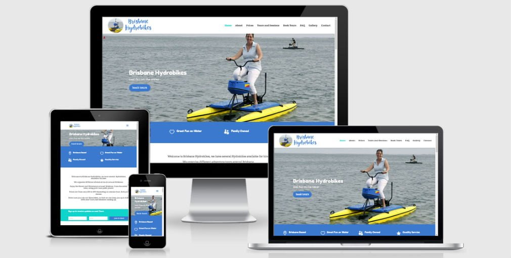 Brisbane Hydrobikes – Website for New Brisbane Business