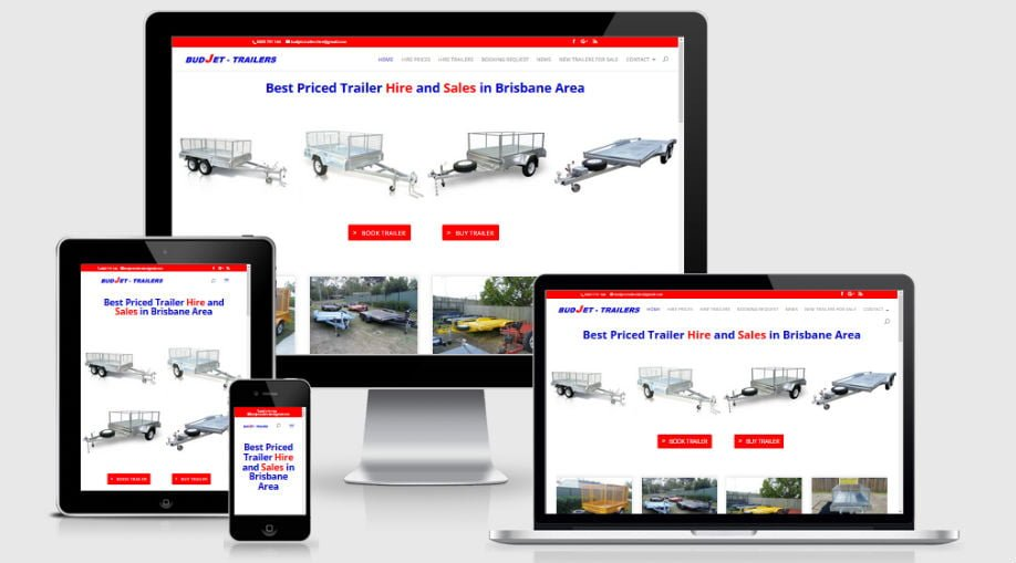 Budjet Trailer Hire – Website Upgrade and Revamp