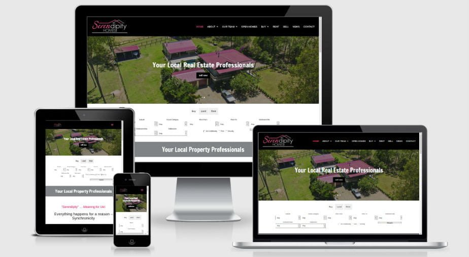 Serendipity Homes – Real Estate Agency Website