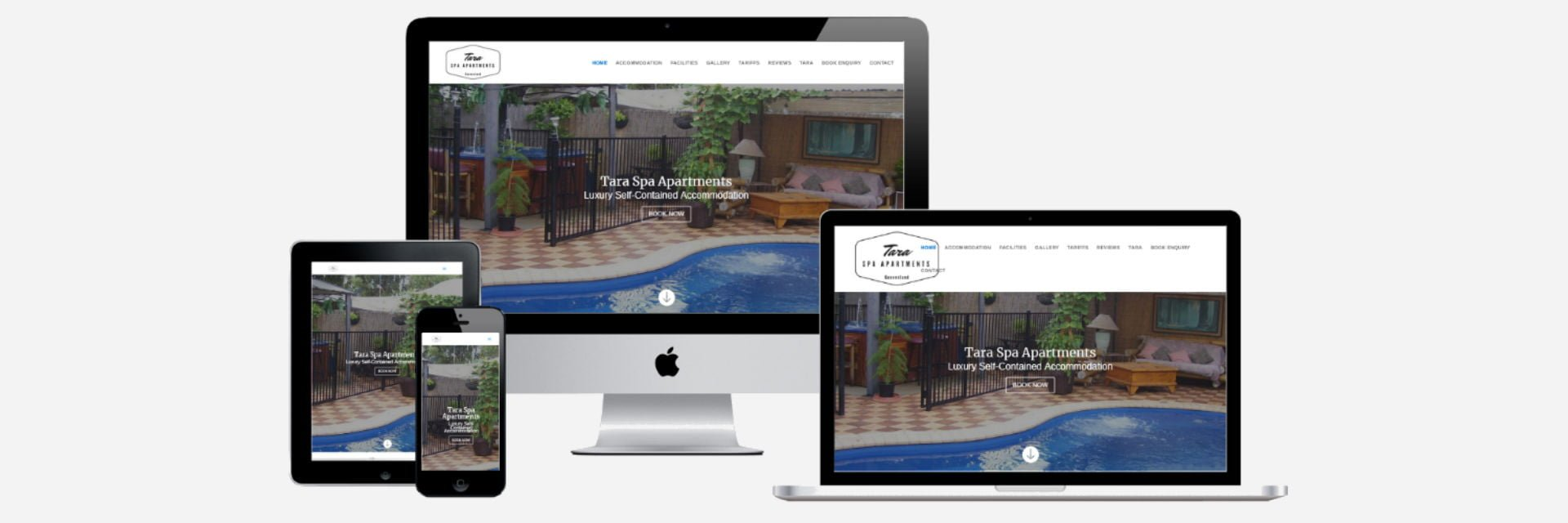 Tara Spa Apartments - Website Design