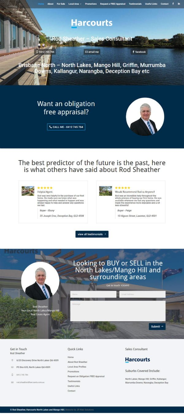 Harcourts Real Estate Agent Website