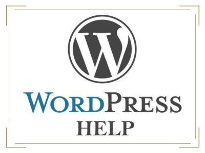 WordPress Help Available
