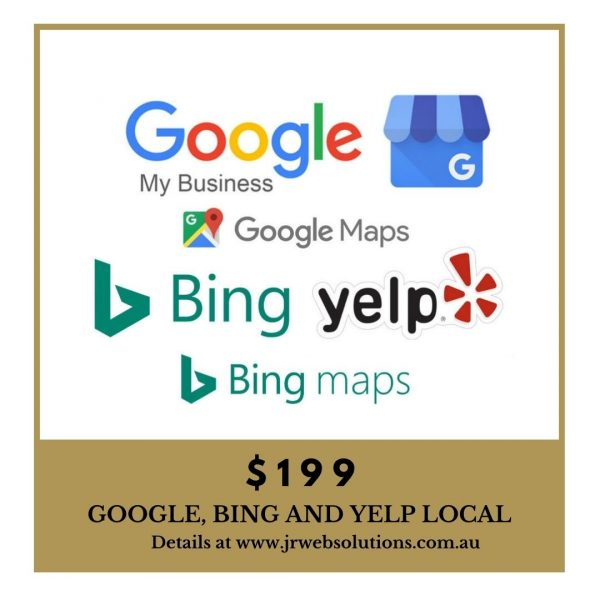 Google, Bing and Yelp Pages