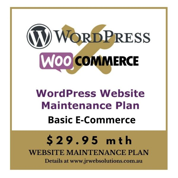 Basic WooCommerce WordPress Website Maintenance Plan