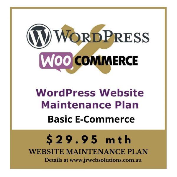 Basic WooCommerce WordPress Website Maintenance Plan