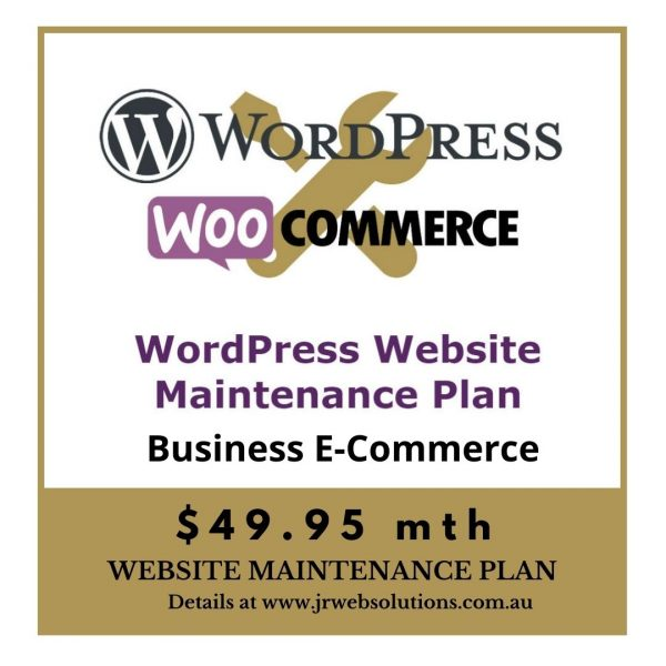 Business WooCommerce WordPress Website Maintenance Plan
