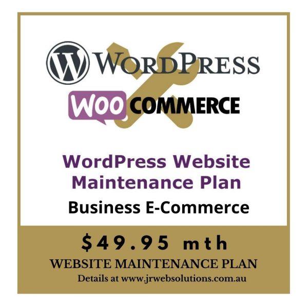 Business WooCommerce WordPress Website Maintenance Plan