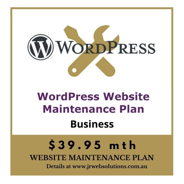 Business WordPress Website Maintenance Plan