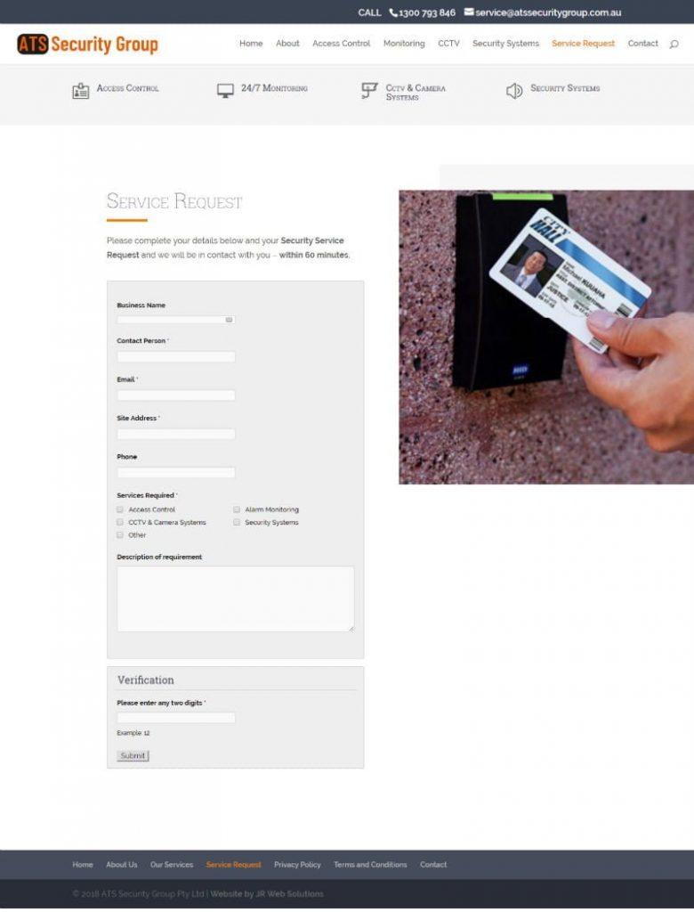 ATS Security Group - Website Design