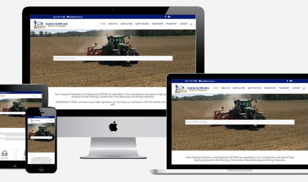 Farm Supplies Machinery and Equipment – New Website Design