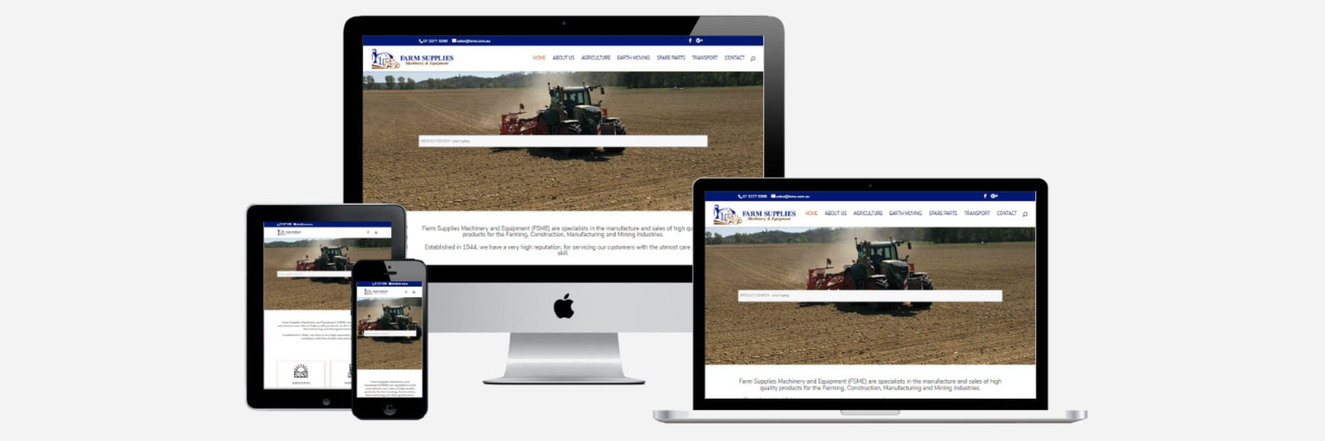 Farm Supplies Machinery and Equipment - New Website Design