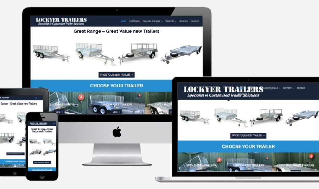 Lockyer Trailers – New Website Design