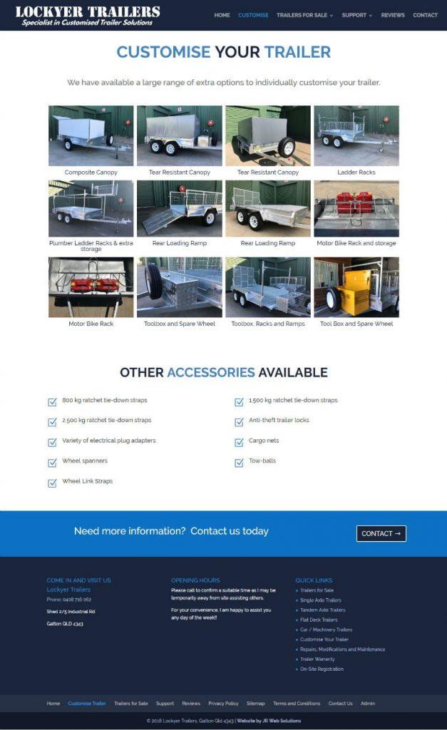 Lockyer Trailers Web Design