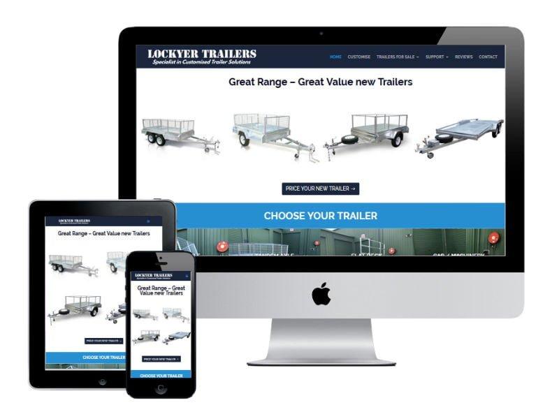Lockyer Trailers Website Design