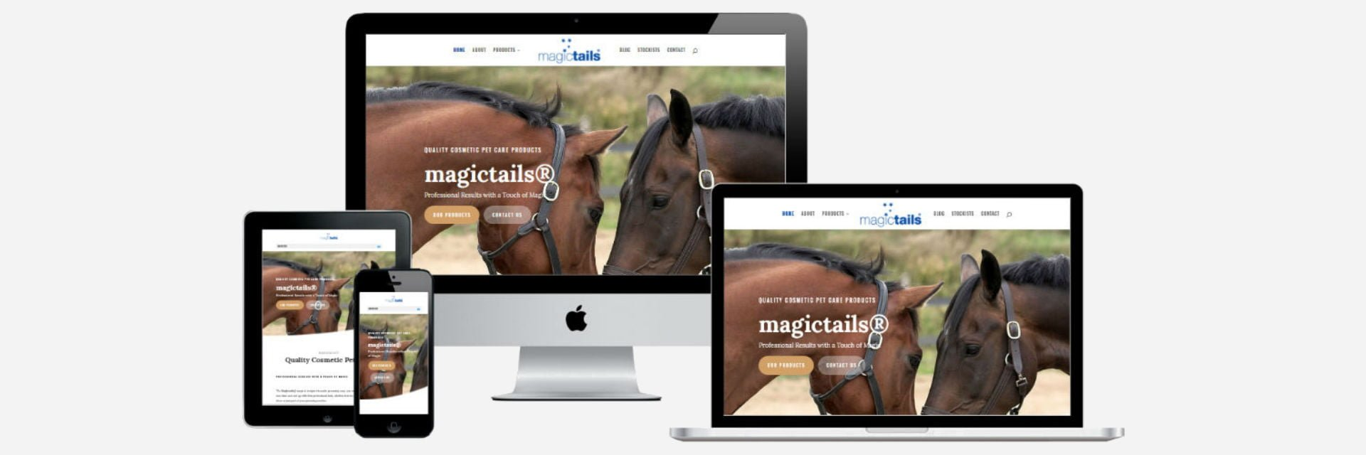 Magictails New Website Design