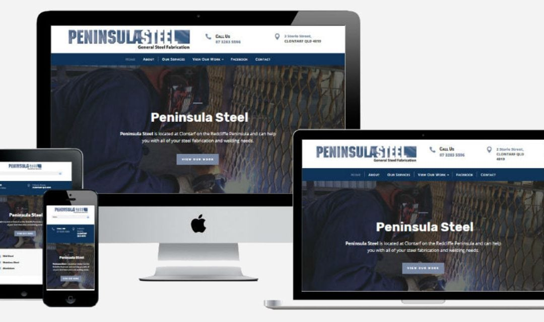 Peninsula Steel Fabrication – New Website Design