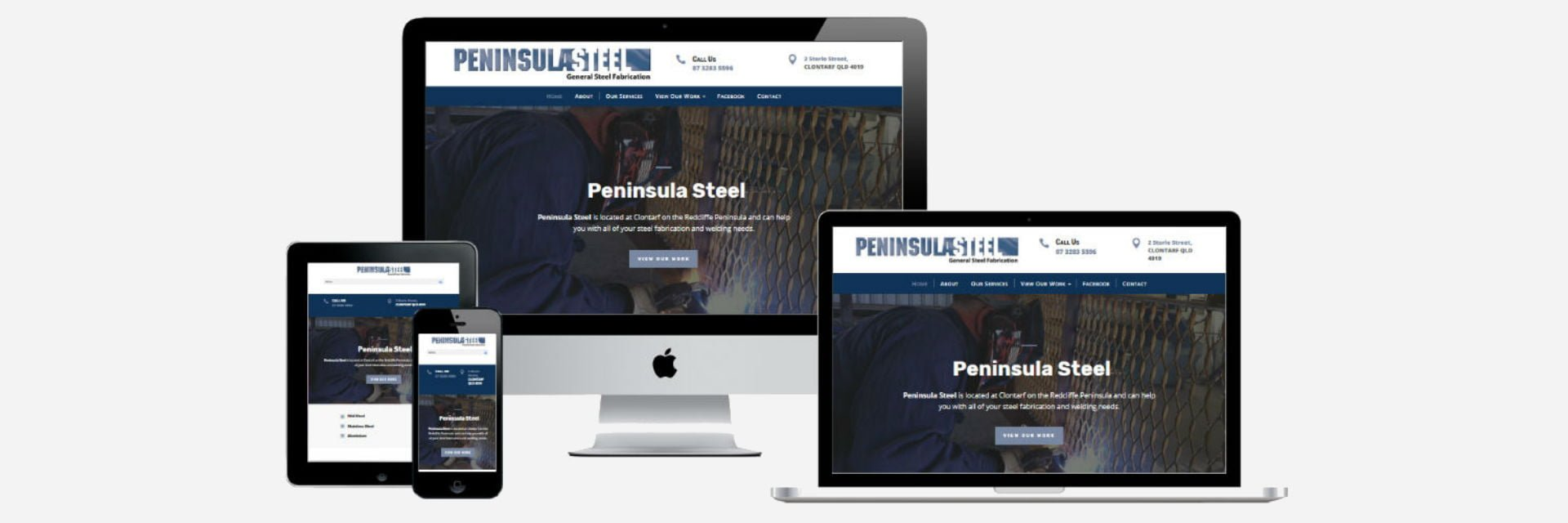 Peninsula Steel Fabrication - New Website Design