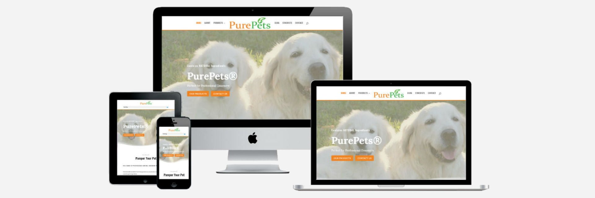 PurePets - New Website Design