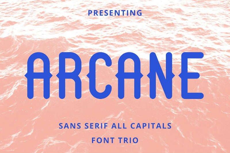 Arcane Sans Font Trio - Free
