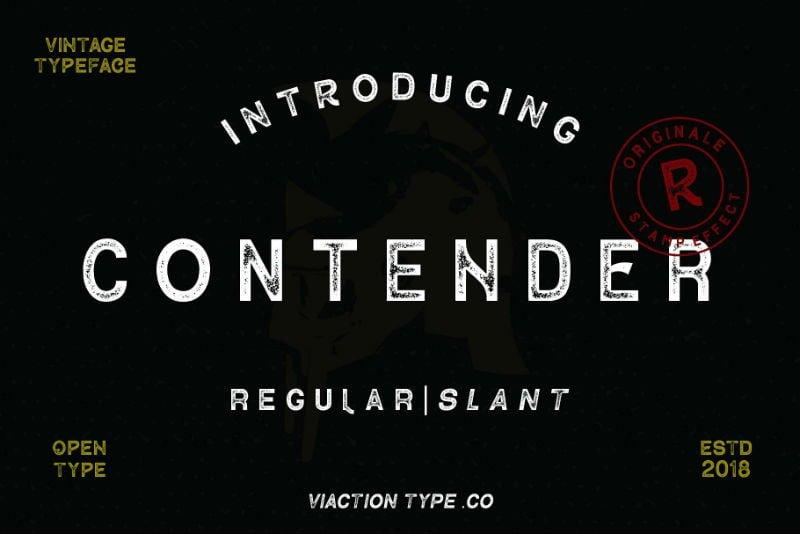 Contender Vintage Font - 2 Styles
