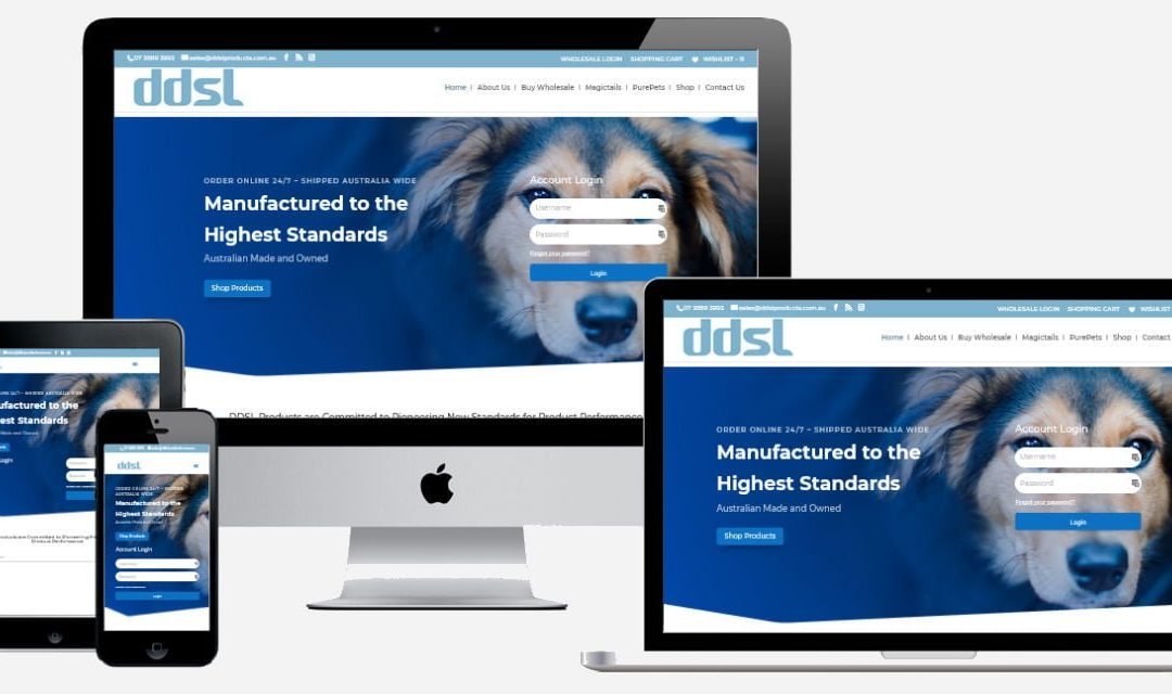DDSL Products  – New Website Design