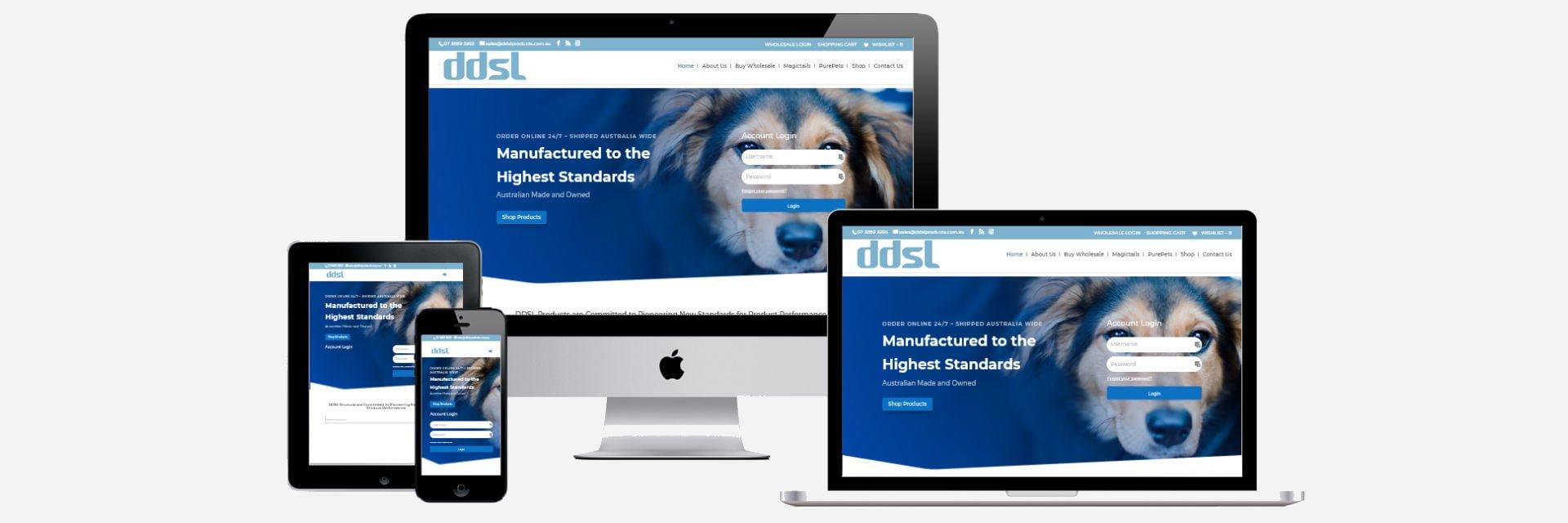 DDSL Products - New Website Design
