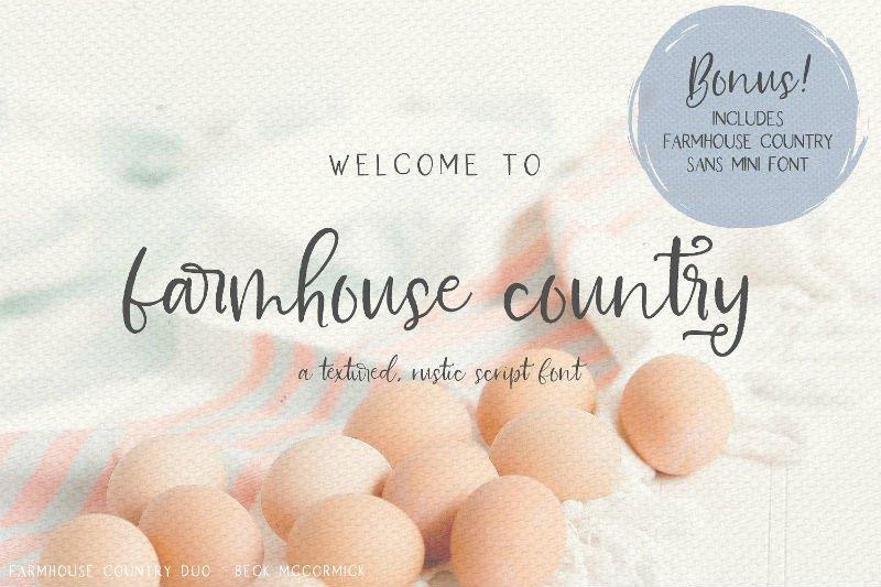 Farmhouse Country Rustic Script