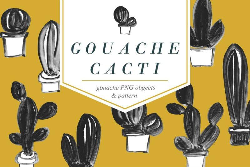 CACTUS - Gouache Illustrations Pack