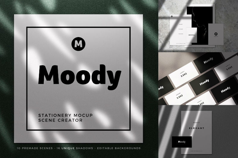 Moody Stationery Mockups