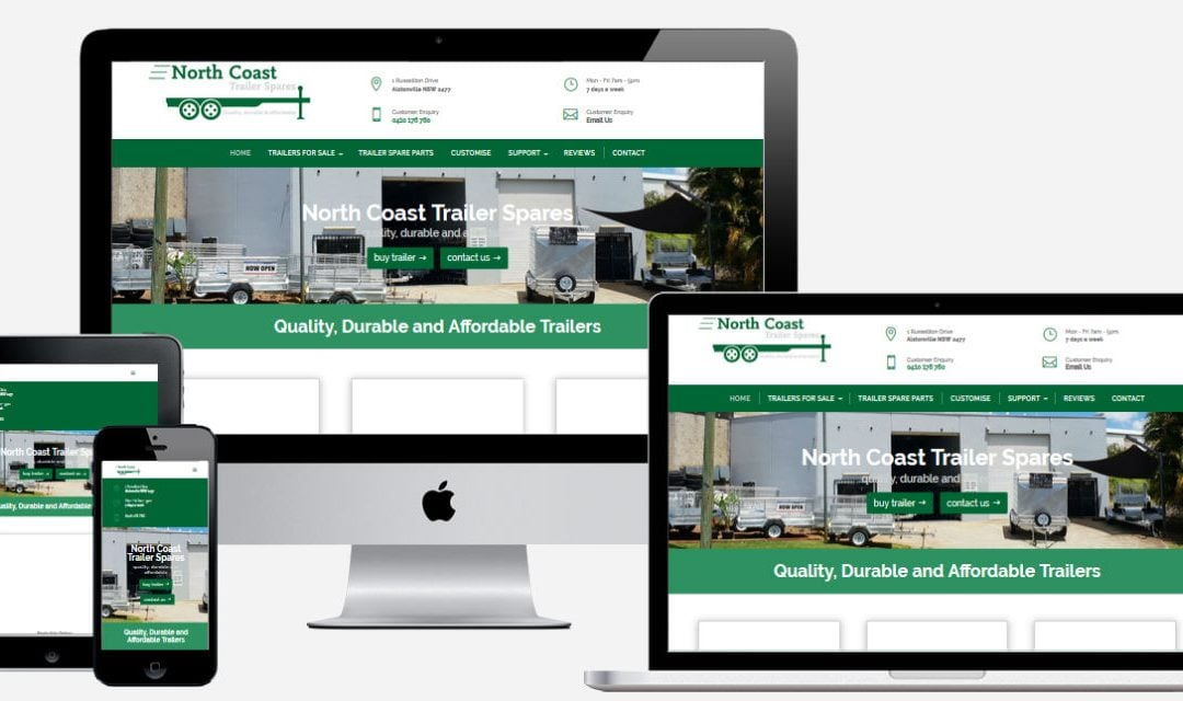 North Coast Trailer Spares – New Website Design