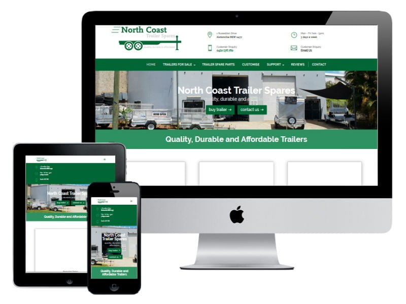 North Coast Trailer Spares New Website Design