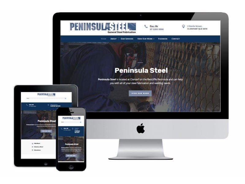 Peninsula Steel Fabrication - New Website