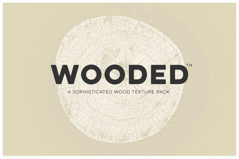 WOODED - Wood Log Grain Texture Pack