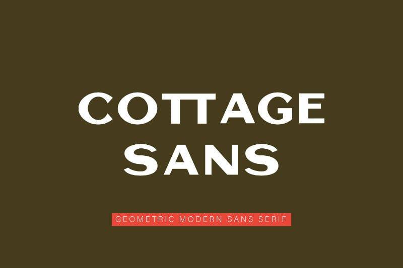 Cottage Sans - 1950's Style