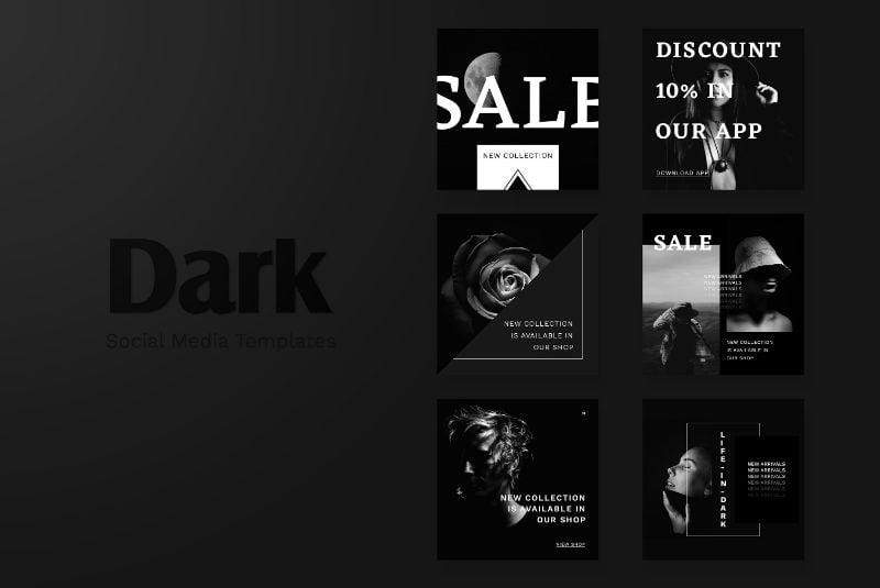 Social Media pack - Dark