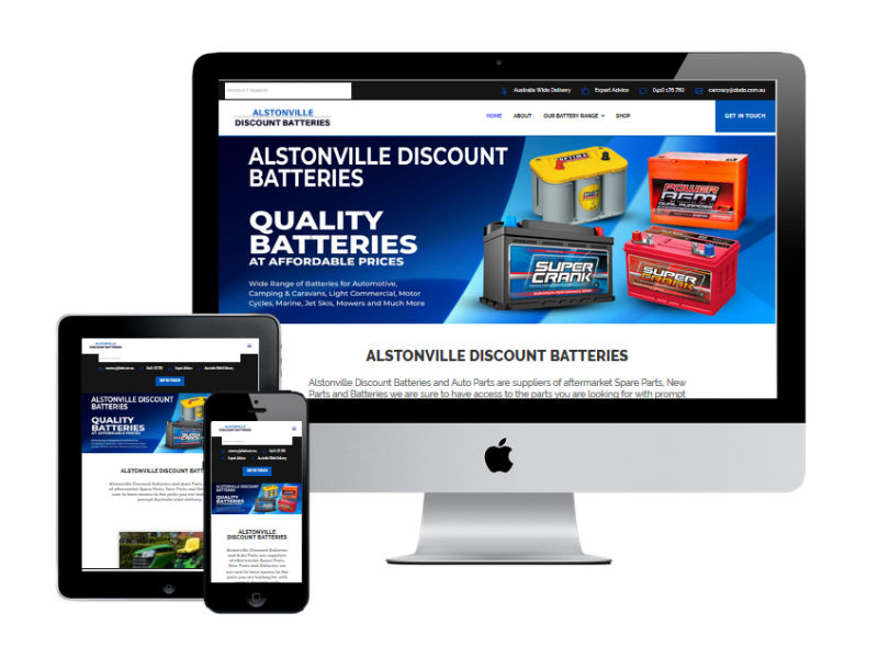 Alstonville Discount Batteries - New Website Design