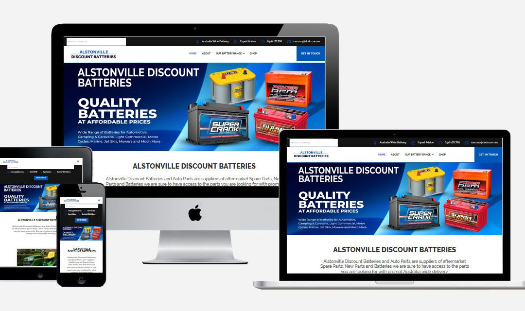 Alstonville Discount Batteries – New Website Design