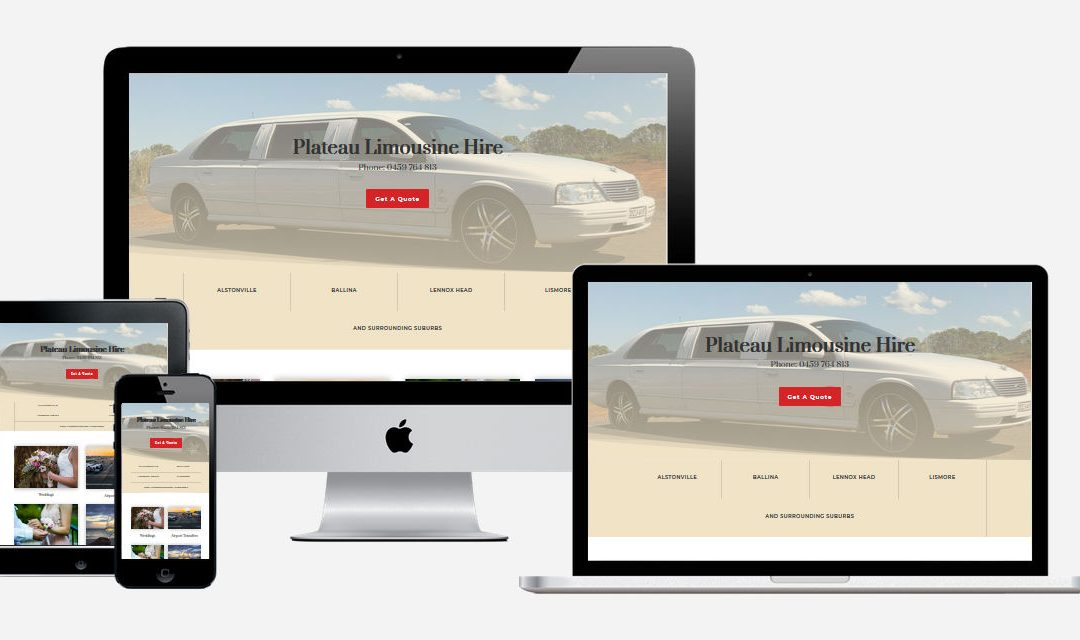 Plateau Limousine Hire – New Website Design