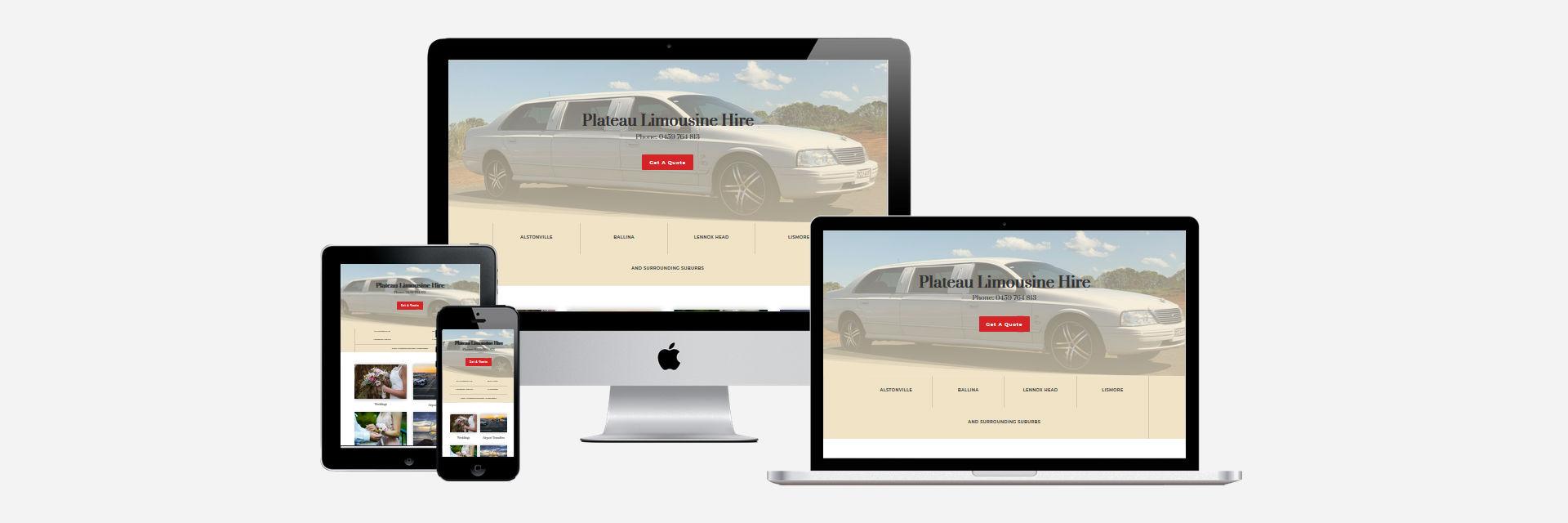 Plateau Limousine Hire - New Website Design